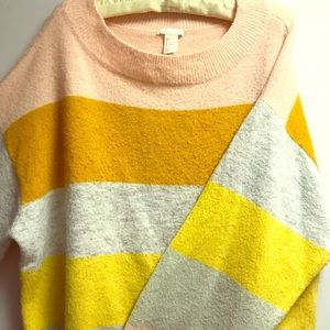 H&M striped super soft cozy sweater